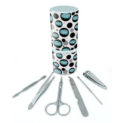 Manicure Pedicure Grooming Beauty Personal Care Travel Kit (Tweezers,Nail File,Nail Clipper,Scissors) - Dreaming Of F-P Giraffes Blue