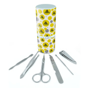 Manicure Pedicure Grooming Beauty Personal Care Travel Kit (Tweezers,Nail File,Nail Clipper,Scissors) - Gadsden Tea Party Don't Tread On Me Flag