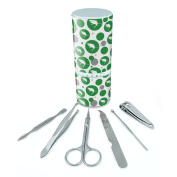 Manicure Pedicure Grooming Beauty Personal Care Travel Kit (Tweezers,Nail File,Nail Clipper,Scissors) - Great White Shark Green