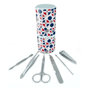 Manicure Pedicure Grooming Beauty Personal Care Travel Kit (Tweezers,Nail File,Nail Clipper,Scissors) - Country National Flag C-I Dominican Republic National Country Flag