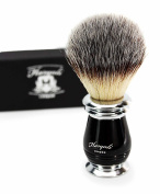 Syntactic Hair Shaving Brush With the Antique designed handle in Black & Metal Colour with Designer Box.