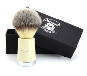 NEWLY DESIGNED - Silver tip Synthetic LOOKING HAIR SHAVING BRUSH FOR HIM