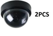 BW 2PCS Dummy Camera, Home Security Fake Camera Imitation Dummy Security Camera Dome With Flashing LED Light