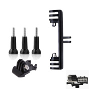 D & F Dual Flash Bracket Tripod Mount with 3pcs Long Screw and Quick Release Buckle for Gopro SJCAM Xiaomi Yi Action Camera and Underwater LED Light