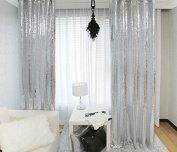 ShinyBeauty-2FTx2.1m-Silver Sequin Backdrops Curtain For Your House Decoration