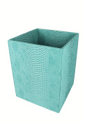 Signature Home Collection 193 804 Paper Basket - faux leather, turquoise, 22 x 22 x 28 cm