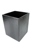 Signature Home Collection 193 Paper/Basket, Artificial Leather, Black, 22 x 22 x 28 cm