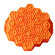 Flyyfree Honeycomb Cake Moulds for Kids 17-Hole Silicone Baking Cake Mould Bakeware