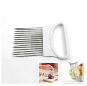 MAXGOODS Stainless Steel Onion Slicer Vegetable Tomato Holder Cutter