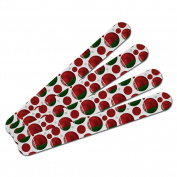 Double-Sided Nail File Emery Board Set 4 Pack - Soccer Futbol Football Country Flag A-I - Belarus Flag Soccer Ball