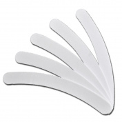 RM Beauty Nails Nail File Banana Nail Files - White Curved 100/180 Grit Nail Files Pack of 50