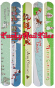 FunkyNailFiles MERRY CHRISTMAS Emery Board SET 9