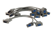 Your Cable Store 0.3m DB9 9 Pin Serial Port Y Cable 1 Male / 2 Female RS232 5 Pack