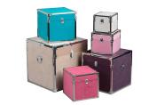 Premier Housewares Fur Effect Storage Trunks - Set of 6