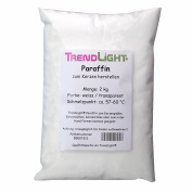TrendLight 890018-2 Pure Paraffin Wax for Candle-Making 2 kg Pellets White