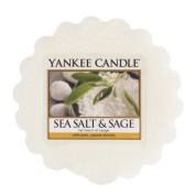 Yankee Candle Sea Salt and Sage Wax Tart Melt, Plastic, White