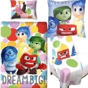 Disney Inside Out Duvet Cover & Square Cushion & Fleece Blanket Bedroom Bundle Set