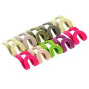 Bluelans® 10pcs Anti-slip Mini Flocking Clothes Rack Hanger Hooks Holders