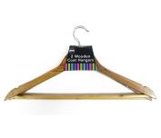 High Quality RSW 2pc Wood Coat Hanger Set Jacket Trousers Shirts Home
