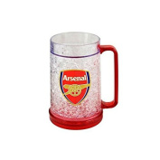Official Arsenal FC Plastic Freezer Tankard - A Great Gift / Present For Men, Boys, Sons, Husbands, Dads, Boyfriends For Christmas, Birthdays, Fathers Day, Valentines Day, Anniversaries Or Just As A Treat For Any Avid Football Fan