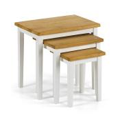 Julian Bowen Cleo Two Tone Nest of Tables, Wood - Oak/White