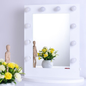Chende White Hollywood Lighted Makeup Vanity Mirror Light with Dimmer 8065