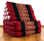 3 Fold with extra large Triangle Cushion with XXL Jumbo Asian Thailand Pillow / Headrest & 100% Kapok Filling