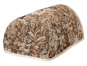 Tapestry Chair Arm Covers, JUMBO, MINI AND REGULAR SIZE. Chair Backs, 2 and 3 seater Settee Backs in Brown and Beige floral with a castle design (pairs) (JUMBO CHAIR ARM COVERS