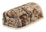 Tapestry Chair Arm Covers, JUMBO, MINI AND REGULAR SIZE. Chair Backs, 2 and 3 seater Settee Backs in Brown and Beige floral with a castle design (pairs) (NARROW CHAIR ARM COVERS (PAIRS) 54205