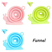 Andux Collapsible Funnel Snails Foldable Funnel for Liquid Transfer Funnel Pack of 3 LD-01