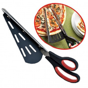 flintronic Pizza Scissors Cutter Stainless Steel with Server, Kitchen Tools