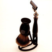 Super Badger shaving brush, Mach 3 razor & stand