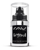 RAU beyond Active Eye & Lip Cream 15 ml - Best Natural Moisturiser for Lips and Eyes - With Argan Oil, Jojoba Oil, Eyebright Extract, Capuacu Butter, Almond & Magnolia - For Puffiness, Swellings, Wrinkles, Dark Circles Bags. Dry, Cracked, Coarse, Sensi ..