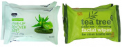 Escenti & Nuage Facial Wipes For Clean Healthy Skin (TWIN PACK) TWO PACK