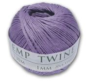 130m of 1mm 100% Hemp Twine Bead Cord in Lavender