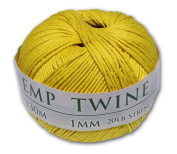 130m of 1mm 100% Hemp Twine Bead Cord in Yellow