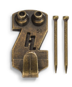 HangZ 113581.2lery Picture Hooks, 23kg, Antique Brass, 2-Pack