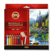 Koh-i-noor Mondeluz Aquarell Drawing Set. 72 Coloured Pencils.