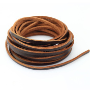 LolliBeads Heavy Duty Strong 4 mm Genuine Leather Cord Braiding String for Jewellery Making Craft DIY Assorted Colour Dark Brown 5 Metres