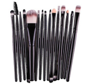 SMTSMT 15 pcs/Sets Eye Shadow Foundation Eyebrow Lip Brush Makeup Brushes Tool