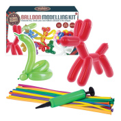 """Global Gizmos 139730cm Classic Balloon Animal Modelling Kit including Pump"""" Toy"""