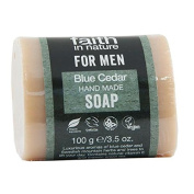 Faith in Nature for Men Blue Cedar Pure Hand Made Soap 100g