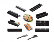 HaoYiShang Sushi Maker Kit Rice Roll Mould Kitchen DIY Easy Chef Set Mould Roller Cutter