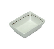 Japanese Sushi Sashimi Soy Sauce Dipping Tray, Condiment Dish, Speckled Cream