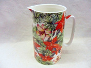 Poinsettia christmas bouquet design large size jug for the Abbeydale collection.
