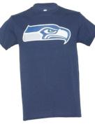 Seattle Seahawks American Football T shirt Navy Blue White