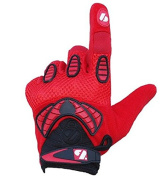 FRG Receiver Fit Receiver American Football Gloves, Re, DB, RB, Red