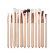 Jamicy® 12Pcs Mini Cosmetic Eyebrow Eyeshadow Brush Makeup Brush Sets Kits Tools