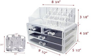 Set of 2 Clear Acrylic Cosmetics , Jewellery and Makeup Organiser Brush Holder with 12 Spaces