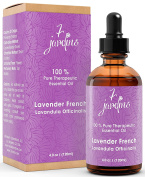 Premium Lavender 100% Pure & Natural Therapeutic Grade Essential Oil. 120 ml - Aromatherapy, Massage, Sleeping, Antimicrobial and Sourced From France - By 7 Jardins